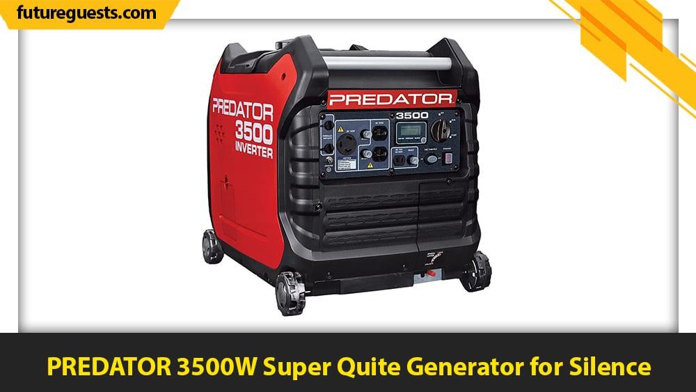 best generators for apartments PREDATOR 3500W Super Quite Generator