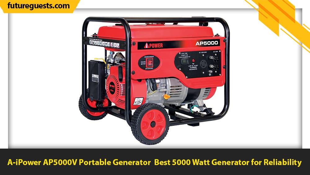 best 5000 watt generator A-iPower AP5000V Portable Generator