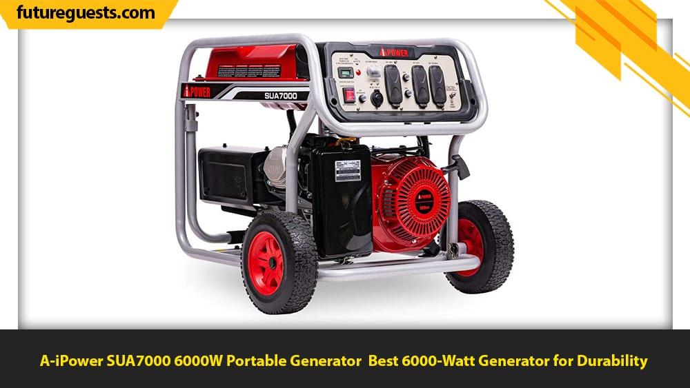 best 6000 watt generator A-iPower SUA7000 6000W Portable Generator