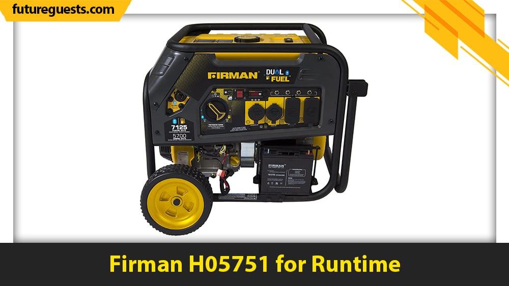 best generator for sump pump Firman H05751