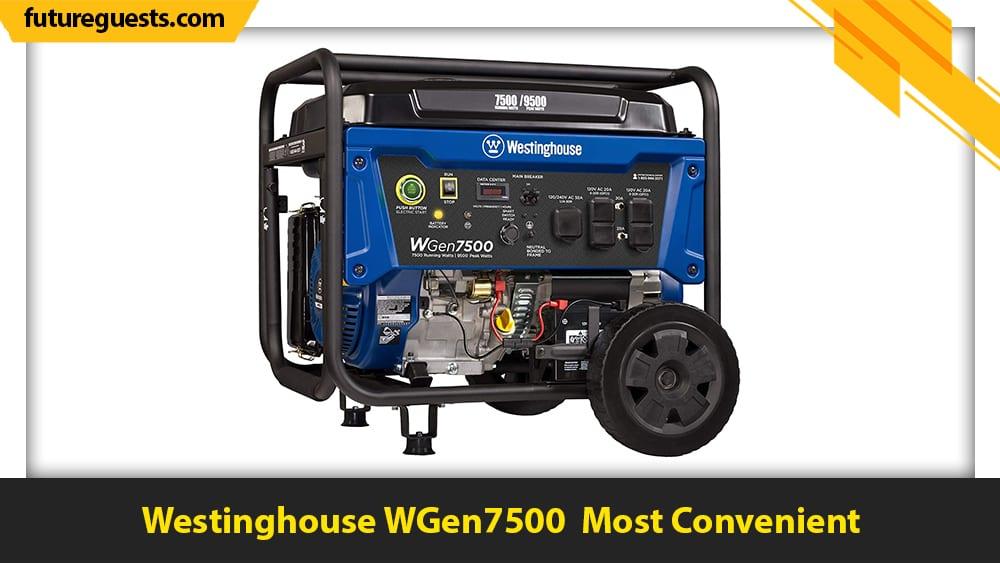 best sump pump generator Westinghouse WGen7500r