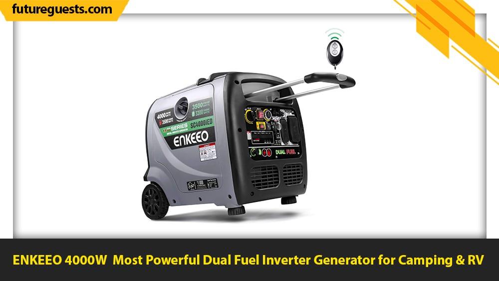 best dual fuel inverter generator for camping ENKEEO 4000W