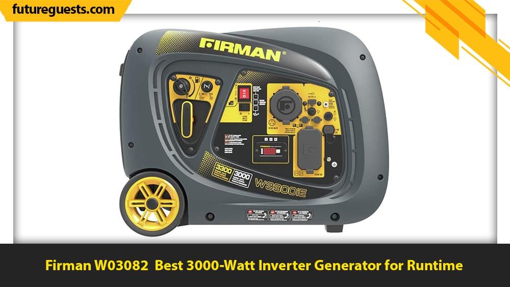 Best 3000 Watt Inverter Generator Firman W03082