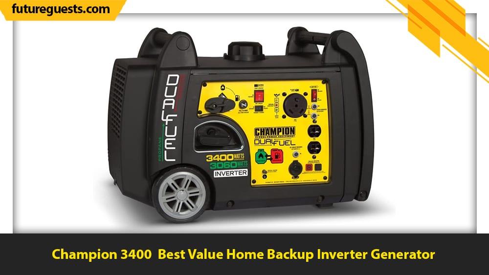 best inverter generator for home backup Champion 3400