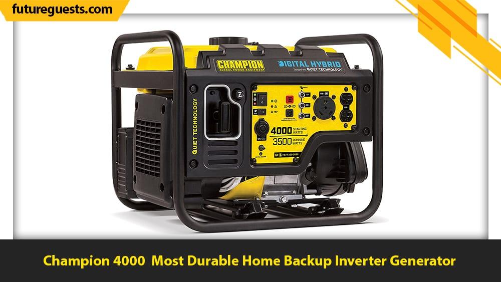 best inverter generator for home backup Champion 4000