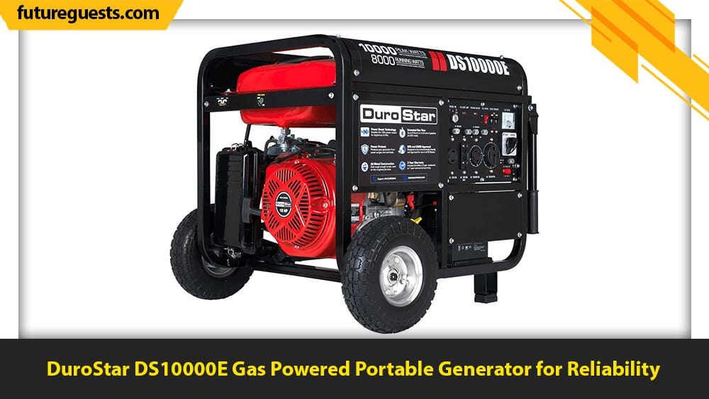 best 50 amp generator DuroStar DS10000E Gas Powered Portable Generator