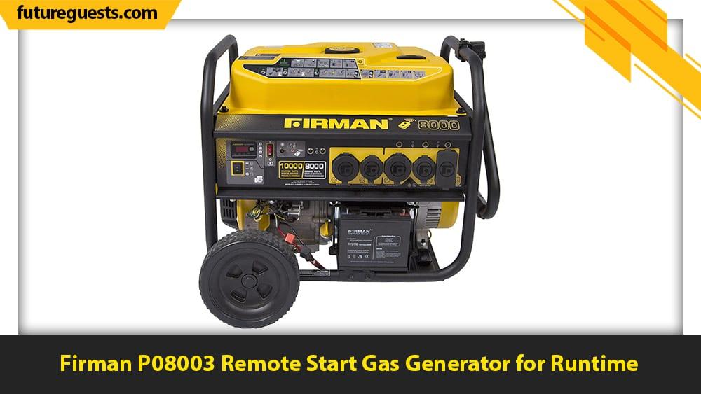 best 50 amp generator Firman P08003 Remote Start Gas Generator