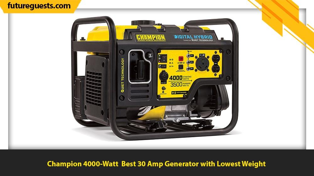 best 30 amp generator Champion 4000-Watt