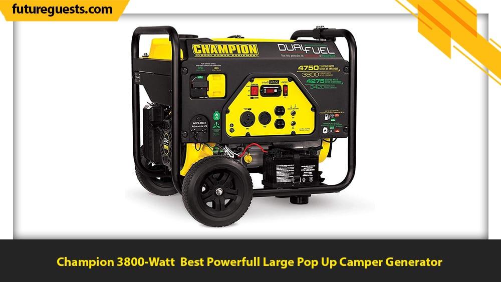 best generator for pop up camper Champion 3800-Watt